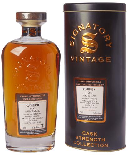 Clynelish 18 Jahre 1996 Signatory Cask Strength Collection 56,4% 0,7L