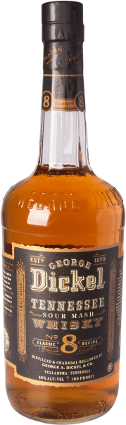 George Dickel No. 8 Tennessee Whiskey 80 Proof 40% 1,0L