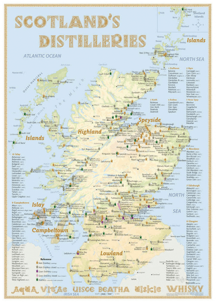 Alba Collection - Scotland´s Whisky Distilleries - Poster Standard Edition 42x60cm Shop