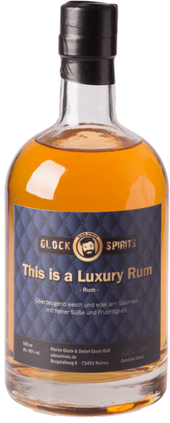 GLOCK SPIRITS This is a Luxury Rum 45% 0,5L