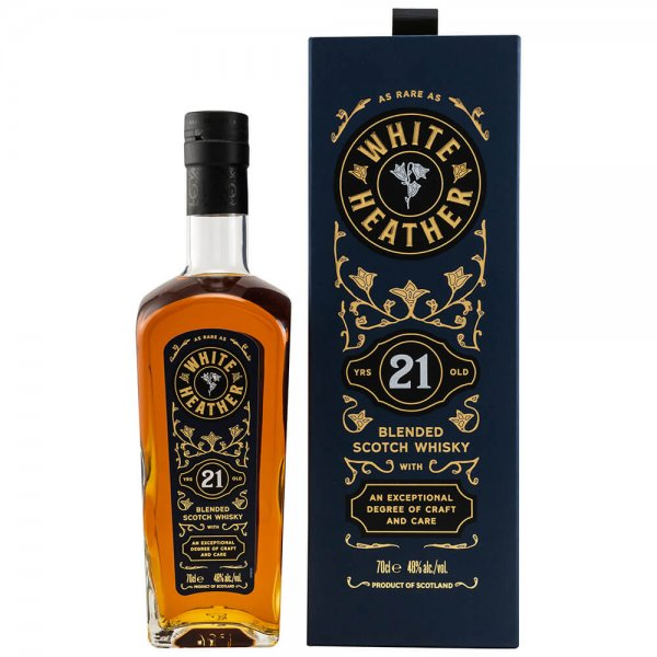 White Heather 21 Jahre Blended Scotch Whisky 48% 0,7L (by Billy Walker)