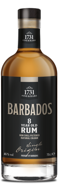 1731 8 Jahre Barbados Single Origin Rum 46% 0,7L