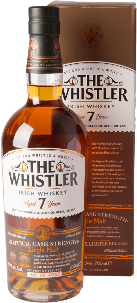 Boann The Whistler 7 Jahre Natural Cask Strength Whiskey 59% 0,7L