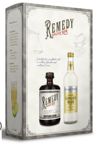 Remedy Spiced Rum & Fever Tree Ginger Beer Giftset
