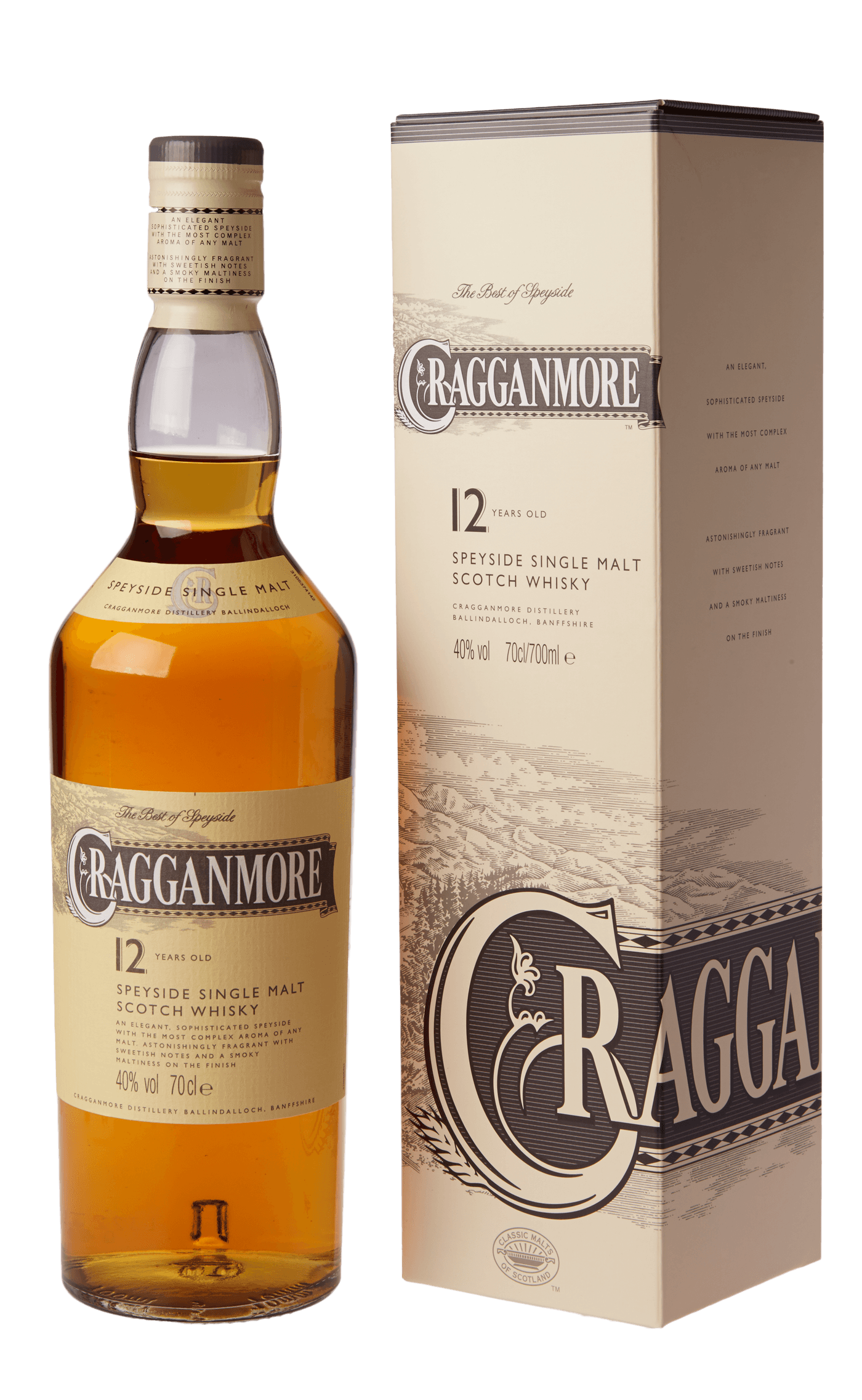 cragganmore 12 jahre single malt whisky 40 aus schottland online g nstig kaufen whisky rum. Black Bedroom Furniture Sets. Home Design Ideas