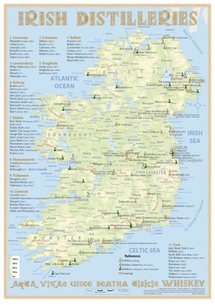 Alba Collection - Irish Whisky Distilleries - Poster Standard Edition 42x60cm Shop