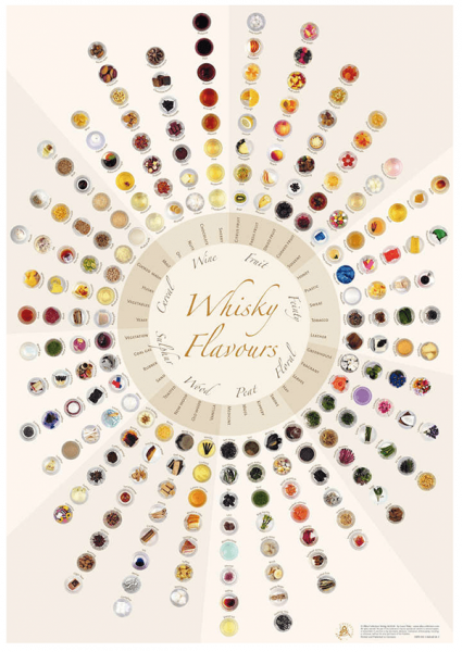 Alba Collection - Whisky Flavours Wheel - Standard Edition - Poster 70x100cm Shop