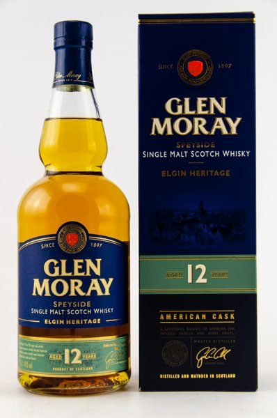 Glen Moray 12 Jahre Whisky 40%