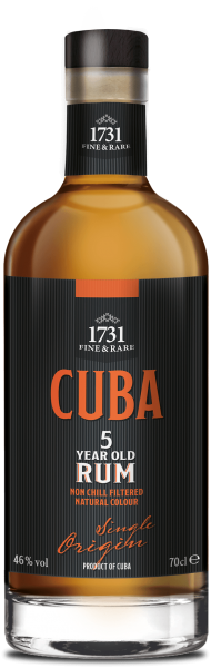 1731 5 Jahre Cuba Single Origin Rum 46% 0,7L