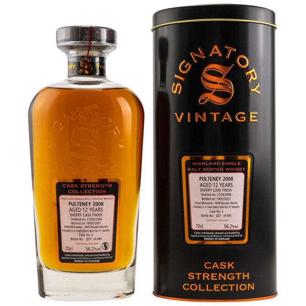 Pulteney 12 Jahre 2008/2021 Cask Strength Collection #4 Whisky 56,2% 0,7L (Signatory)