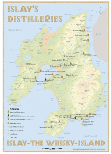 Alba Collection - Islay´s Whisky Distilleries - Poster Standard Edition 42x60cm Shop