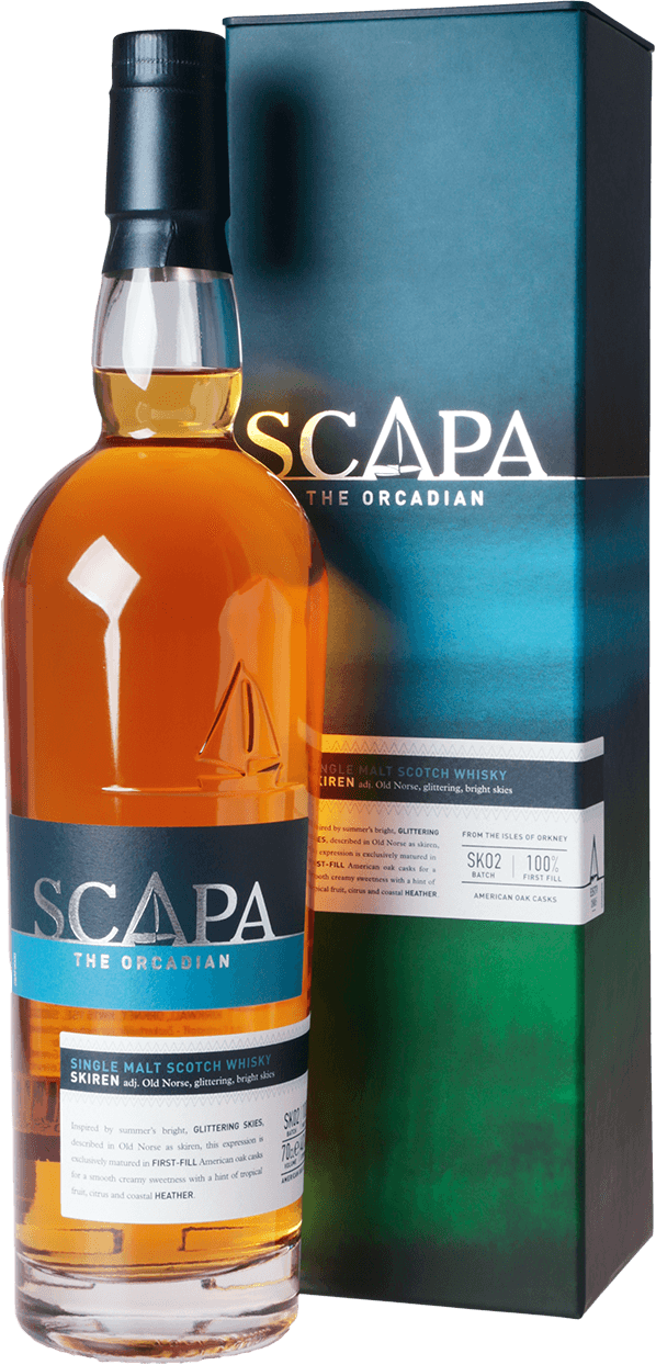 scapa skiren 40 0 7l scotch single malt whisky schottland kaufen whisky rum online shop. Black Bedroom Furniture Sets. Home Design Ideas
