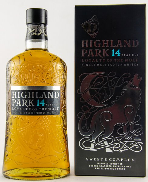 Highland Park 14 Jahre Loyalty of the Wolf Whisky 40 Prozent