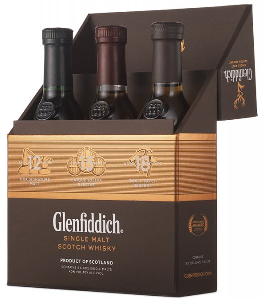 Glenfiddich Mix Pack Whisky 40% 3x0,2L
