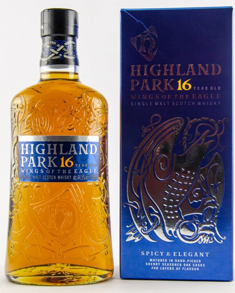 Highland Park 16 Jahre Wings of the Eagle Whisky 44,5 Prozent