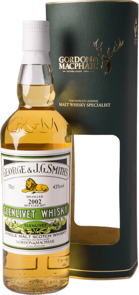 Glenlivet 2002 2017 G&M Distillery Labels Whisky 43%