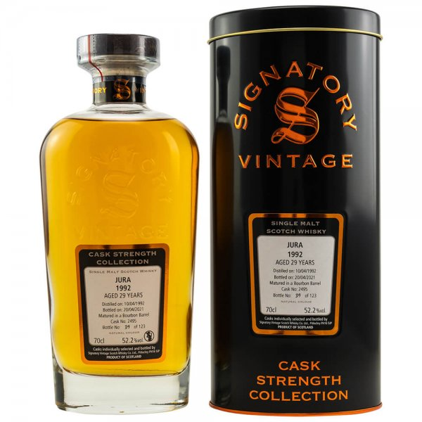 Jura 29 Jahre 1992/2021 Cask Strength Collection #2495 Whisky 52,2% (Signatory)