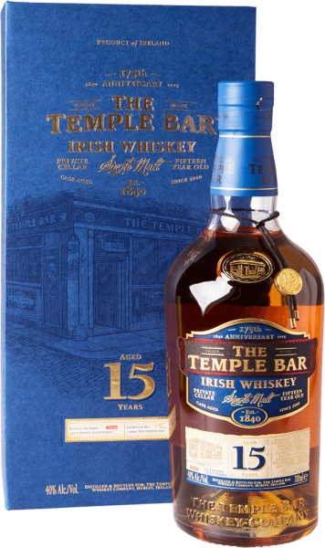 The Temple Bar 15 Jahre Irish Single Malt Whiskey 40%