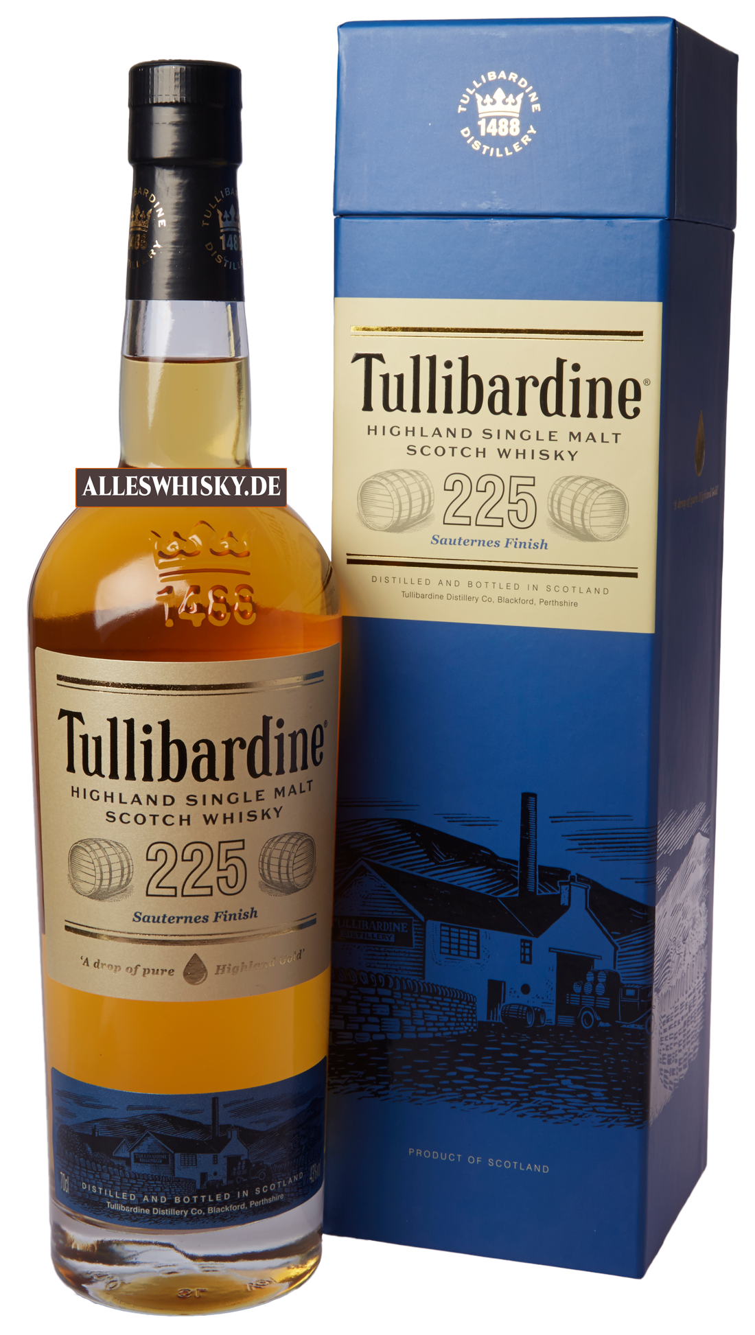 tullibardine 225 sauternes finish highland single malt scotch whisky schottland kaufen. Black Bedroom Furniture Sets. Home Design Ideas