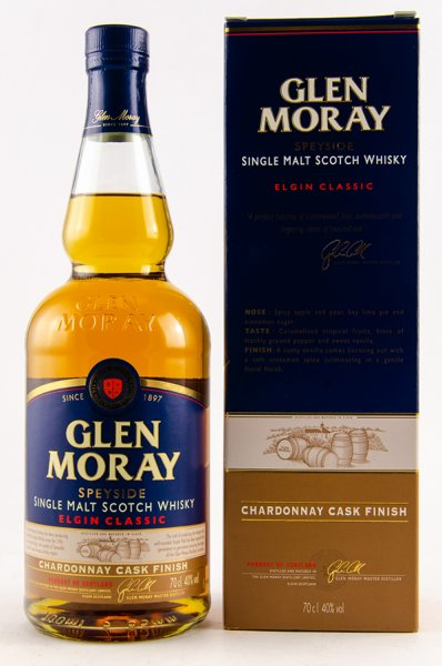 Glen Moray Chardonnay Cask Finish Whisky 40% 0,7L