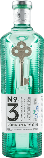 No 3 London Dry Gin 46 Prozent Flasche