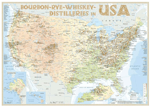 Alba Collection - USA Whiskey Distilleries - Poster Standard Edition 60x42cm Shop