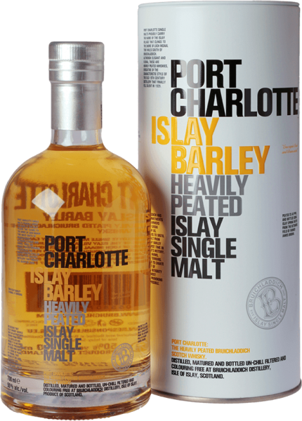Bruichladdich Heavily Peated Islay Barley 2008 50% Geschenkverpackung