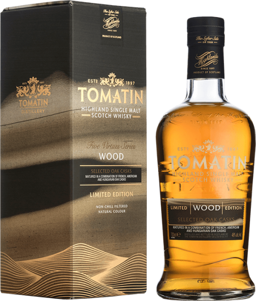 Tomatin Five Virtues Limited Wood Edition Whisky 46%