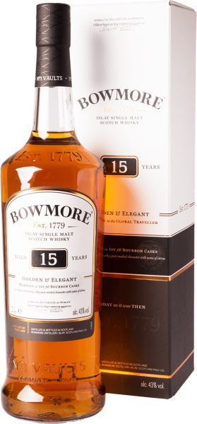 Bowmore 15 Jahre Golden and Elegant Whisky 43%
