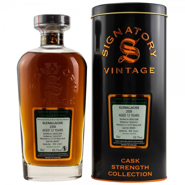 Glenallachie 12 Jahre 2008/2021 Cask Strength Collection #900367 Whisky 63,7% (Signatory)