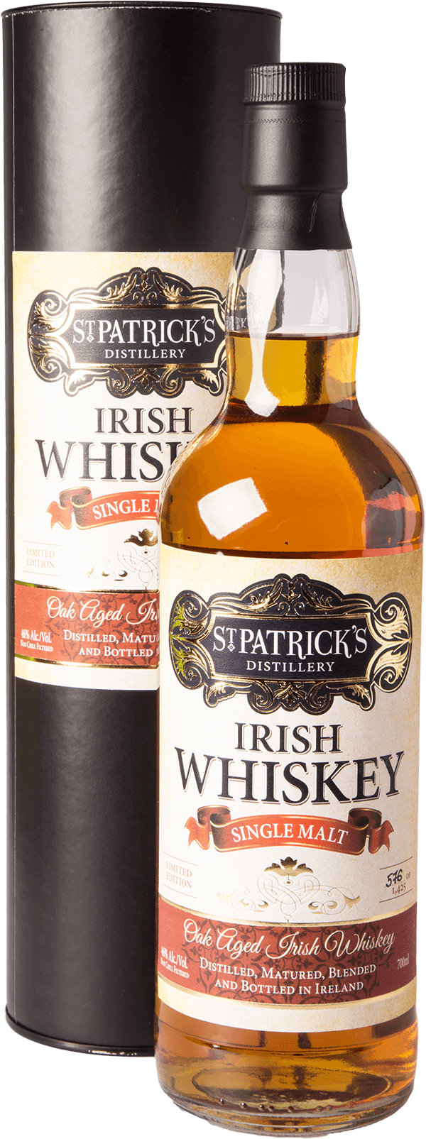 st patricks irish single malt whiskey 46 aus irland kaufen whisky rum online shop. Black Bedroom Furniture Sets. Home Design Ideas
