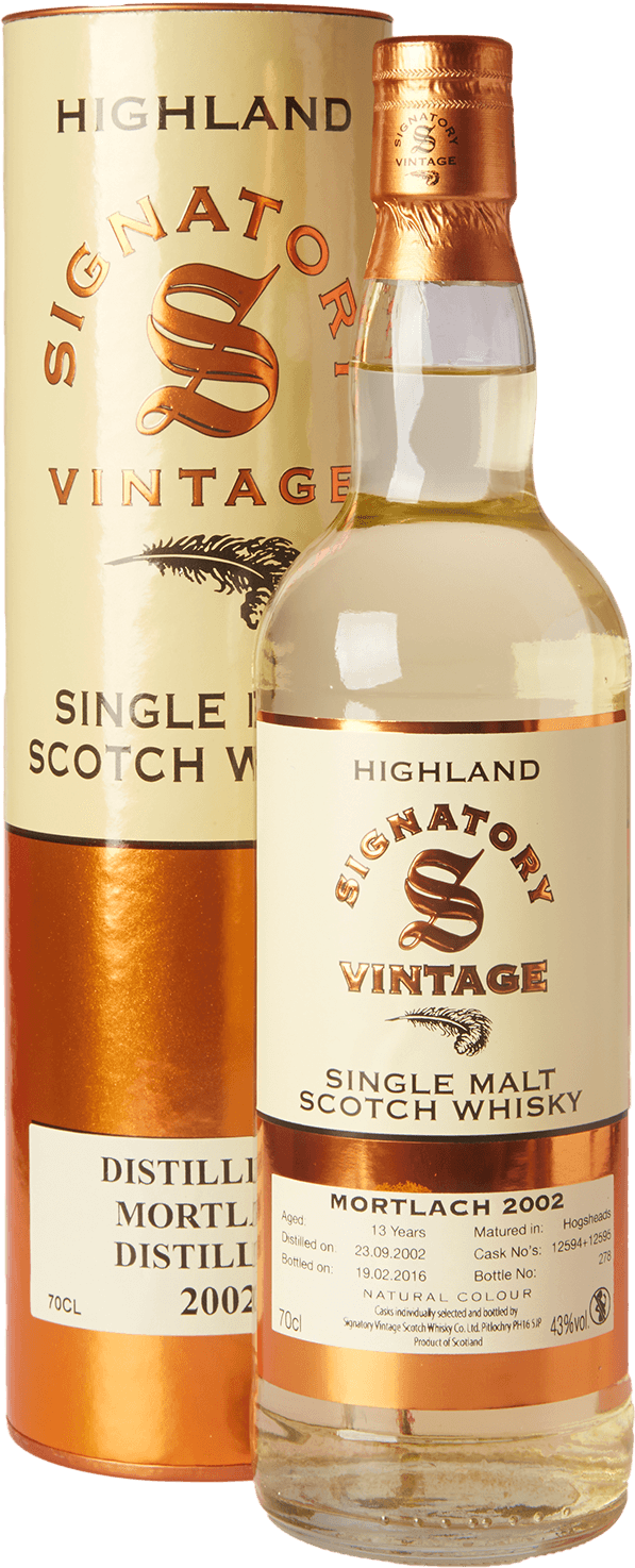 mortlach 13 jahre 2002 2016 signatory whisky 43 0 7l schottland kaufen whisky rum online shop. Black Bedroom Furniture Sets. Home Design Ideas