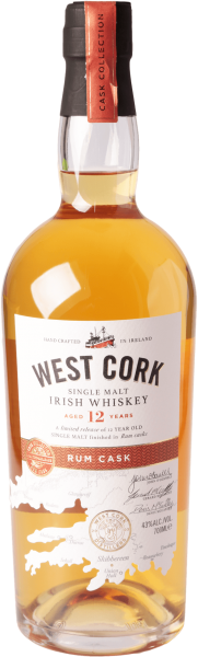 West Cork 12 Jahre Rum Cask Finish Whiskey 43%