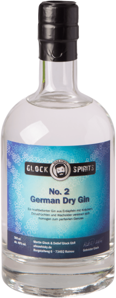 No. 2 German Dry Gin GLOCK SPIRITS 46%