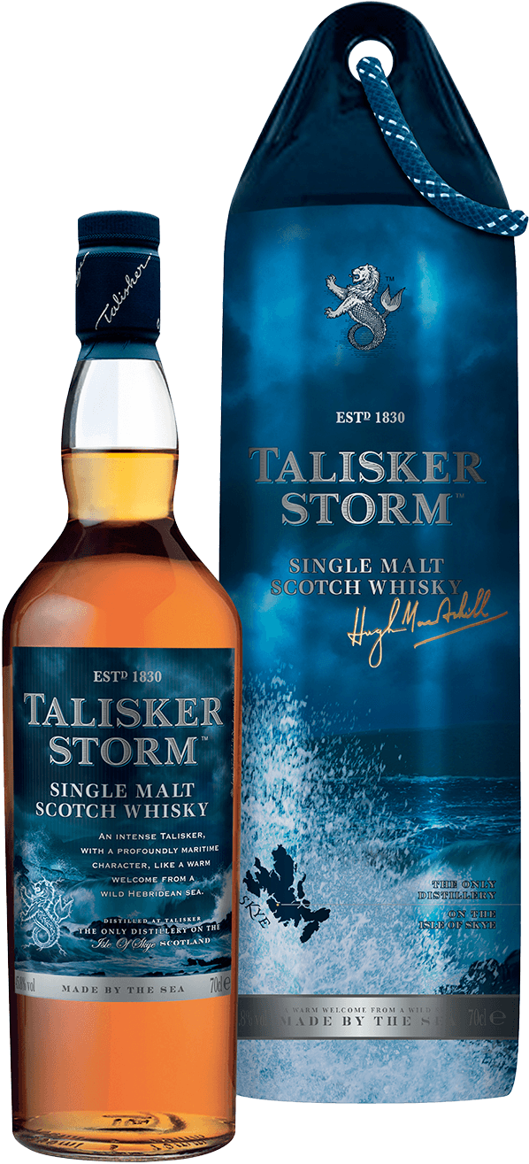 talisker storm whisky fender 45 8 0 7l schottland kaufen whisky rum online shop. Black Bedroom Furniture Sets. Home Design Ideas