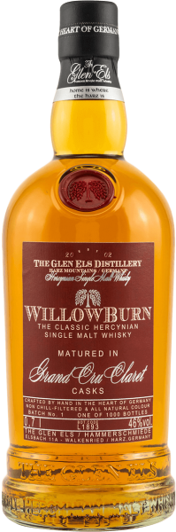 Willowburn Grand Cru Claret Cask 2019 Batch 1 Whisky 46 Prozent Flasche