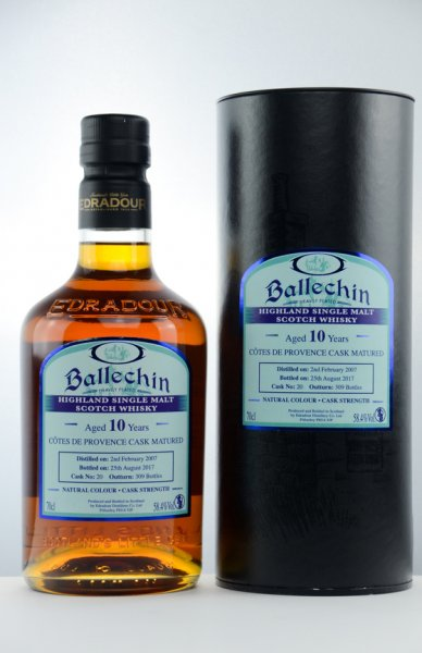 Ballechin Cotes de Provence Single Cask Whisky 58,4%