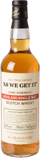 As we get it Highland Single Malt Whisky 64%