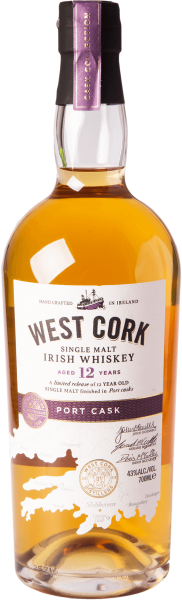 West Cork 12 Jahre Port Cask Finish Whiskey 43%